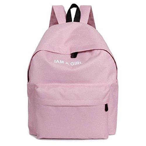 Bolsos Para mujer, RETUROM Bolso de lona de la muchacha mochila bandolera para viajes escolares (Rosa)