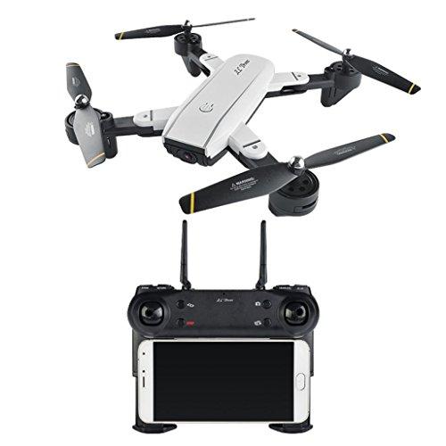 GJKK SG700 RC Quadcopter Drone 2,4 Ghz 4 CH 360 ° Halten WiFi 2.0MP Optischer Fluss Dual Camera Spielzeug Outdoor Flugzeuge Ferngesteuerte Flugzeuge Aircraft RC Drone Mini Drone modellflugzeuge Faltbare Selfie Drohne Tragbare Drohne-Weiß (mit 2.0MP WIFI FPV)