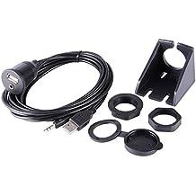 XCSOURCE® 2 metros de la longitud USB y 3,5 mm AUX Extensión Montaje empotrado 6.5 Pies Cable de audiopara coche Barco y la motocicleta MA948