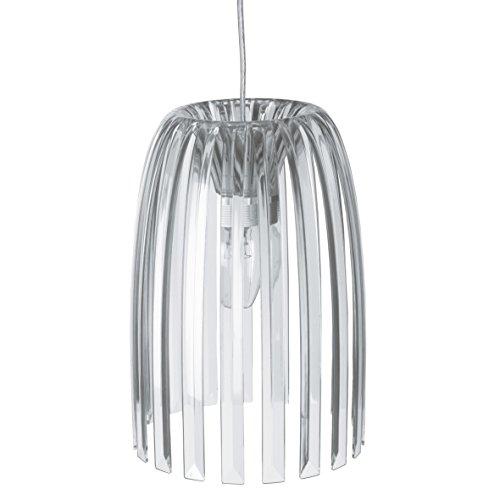 koziol Pendelleuchte  Josephine S,  Kunststoff, transparent klar, 19,7 x 19,7 x 27,8 cm