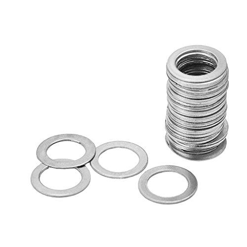 Sharplace 50 Stück Flache Stahlunterlegscheibe für TL-Brückenteile - Einfache Unterlegscheibe - Silber