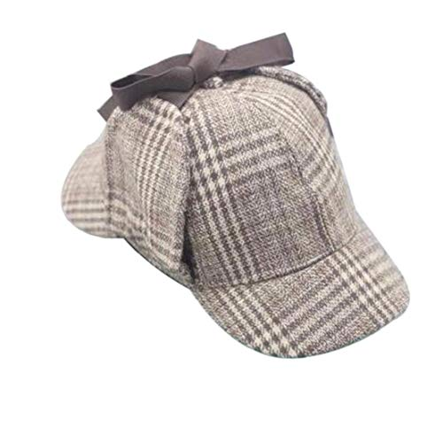 Unisex Cosplay Cap Detektiv Sherlock Deerstalker New Berets Cap Detektiv Kostüm für Männer und Frauen (Detektiv Hut Kostüm)