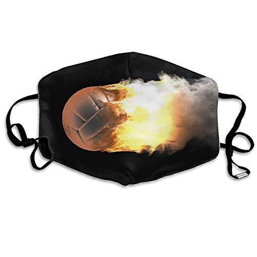 Vbnbvn Mundmaske,Wiederverwendbar Anti Staub Schutzhülle, Dust Mask Burning Volleyball Ball Outdoor Mouth Mask Anti Dust Mouth Mask for Man Woman -