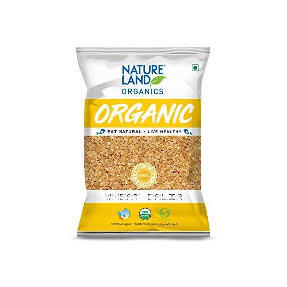 Natureland Organics Wheat Dalia (Porridge)  - Organic Dalia