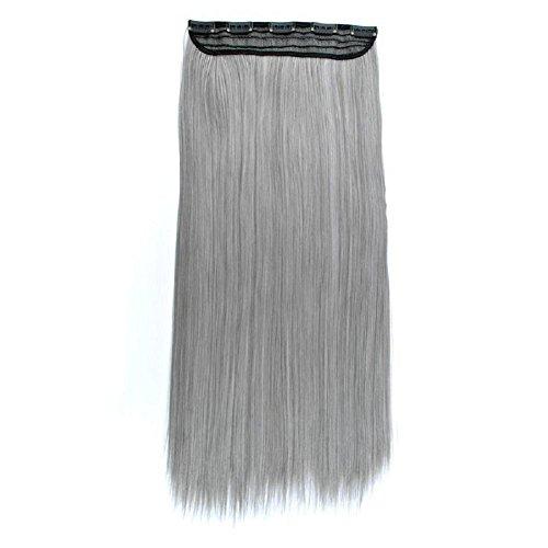 GAIHU Einteiliges, 5 Clips gewellt/Gerade langes Haar Clip in Hair Extensions (55-60 cm) 3/4 Kopf Voll Synthetische Erweiterungen Damen Mädchen