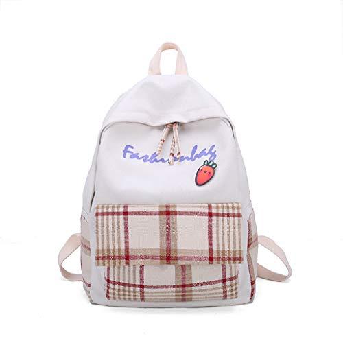 AIni Rucksack Mode Damen\'S Einfacher Und Vielseitiger Rucksack Neu Plaid Leisure Travel Backpack Schulrucksack Business Wandern Reisen Camping Tagesrucksack