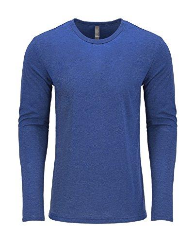 Next Level Herren Langarmshirt Blau - VINTAGE ROYAL