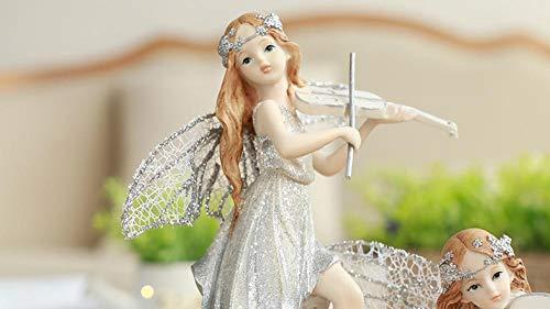 Bellopyn Dekorative Verzierungennordic Music Angel Doll Geeignet Für Mädchen Schmuck Desktop Ornamente Geburtstagsgeschenk@Geige
