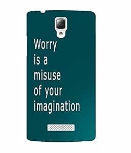 Make My Print Inspirational Slogan Printed Soft Back Cover For Lenovo A2010
