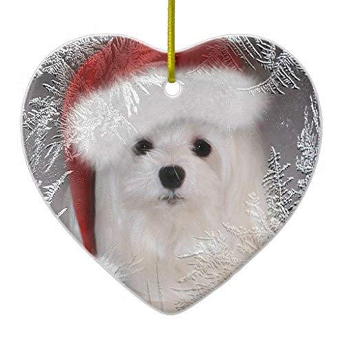 Malteser-Ornament Schneeglöckchen in Herzform -