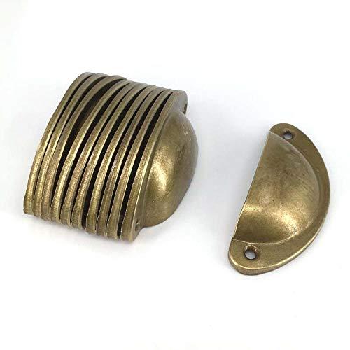 XOYOYO 15 STÜCKE 82mm Vintage Messing Shell Design Kommode Schublade Zieht Griffe Knopf/Rustikale Retro Küchenschrank Schrank Türgriff (Knöpfe Kommode Rustikale Für)