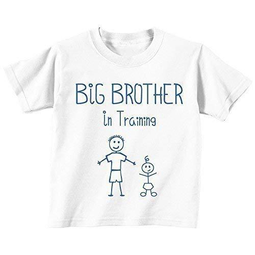 Großer Bruder in Training weiß T-shirt Baby Kleinkind Kinder Verfügbar in Größen von 0-6 Monate wird 14-15 Jahre Neu Baby Bruder Geschenk – Weiß, 92