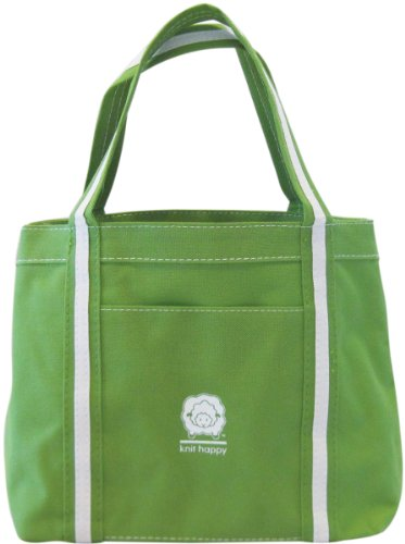 k1 C2 Mélange de polyester tricot Happy prendre le long sac 31,7 cm x 12,7 cm, vert citron