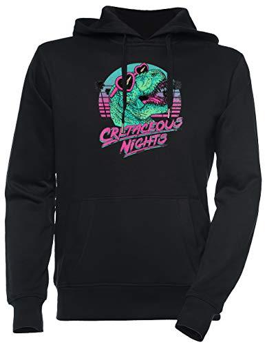 Jergley Cretaceous Nights Unisex Schwarz Sweatshirt Kapuzenpullover Herren Damen Größe S | Unisex Sweatshirt Hoodie for Men and Women Size S