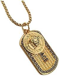 Doyime Herren-Halskette einfachem Schmuck Herren Halskette Anhänger Kette