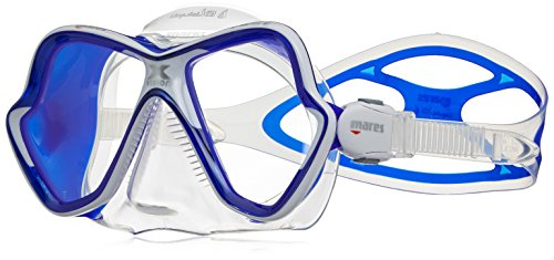 Mares Erwachsene Tauchmaske X-Vision Ultra LS, Blue White/Clear Blue, One Size