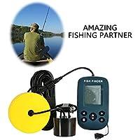 Alian Buscador de Peces portátil Deep Fishfinder con Sensor de sónar con Cable y Pantalla LCD