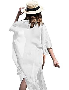 Homebaby - Copricostume Mare Donna Chiffon Cardigan - Copribikini in Cotone sui Costume da Bagno Sexy - Kimono...