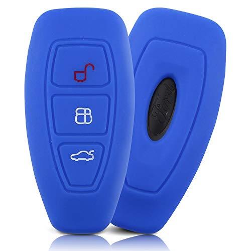 ASARAH Premium Silikon Schlüsselhülle geeignet für Ford, Schutzhülle Autoschlüssel Cover - Sea Blue FD 3BKL