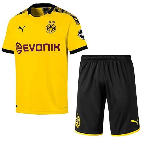 Puma Borussia Dortmund BVB Heimset 2019 2020 Home Kit Trikot Shorts Kinder Gr 140 -
