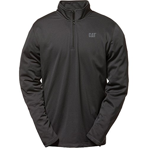 Caterpillar Mens Flex Layer Quarter Zipped Long Sleeved Top Black