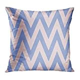 Aoliaoyudonggha Zippered Pillowcases Colorful Chevron Zig Zag Pattern Pink Abstract Classic Color Geometric Graphic Custom Square Size 18 x 18 Inches Home Decor Cushion Pillow Cover