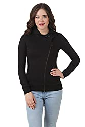 TEXCO WINTER COTTON POLYSTER FLEECE HOODED BLACK STYLIST JACKET (Large)