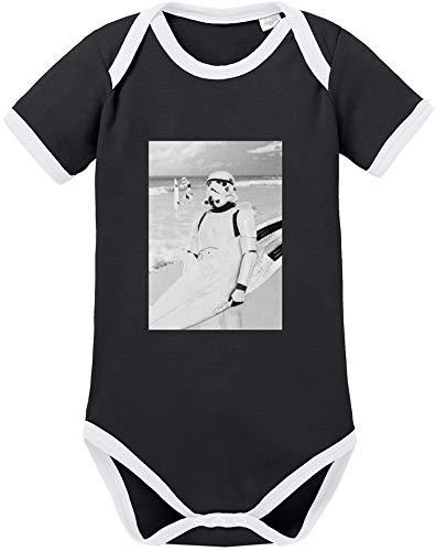 Stormtrooper Star Lego Wars Kostüm - EZYshirt® Stormtrooper Baby Body Kurzarm Bio Baumwolle