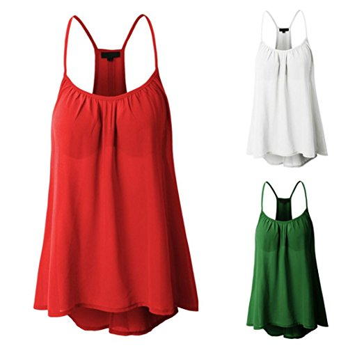 Womens Plus Size Sexy Sleeveless Halterneck Camisole Tank Crop Tops Kanpola Ladies Chiffon Round Neck Cami Vest Blouse T-Shirt