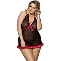 Ladies Babydoll Sexy Lingerie Size 10 12 14 16 18 20 Plus Size Negligee Chemise