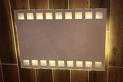 LED Badspiegel mit Kosmetik Spiegel 50 x 70 cm Spiegel mit Beleuchtung Bad Spiegel 667978-2-W57 - warm - weiß