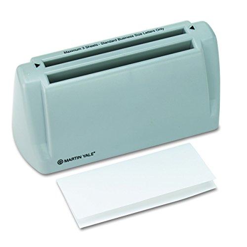 Martin Yale PREP6200 Brieffaltmaschine für den Schreibtisch, zum Einführen von Papier per Hand, faltet 1 bis 3 Blatt in Sekunden, Grau