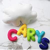 Cloud Personalised Name Wall Hanging - Choose Colours - Baby Nursery Decor - Personalised Banner - New Baby Gift - Cloud Mobile - Rainbow Mobile