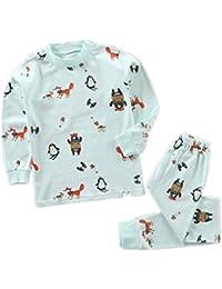 Yying Manga Larga Pyjama Sets Conjuntos de Pijama para Niñas Niño Pijama con Estampado de algodón de Ajuste cómodo de 2 Piezas 120cm-150cm