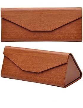 EQLEF® Plegable Triángulo gafas de sol retras funda, un soporte de protección para los vidrios