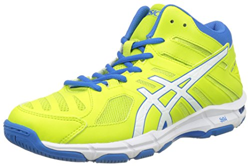 ASICS Gel-Beyond 5 MT, Scarpe da pallavolo Uomo, Multicolore (Energy Green/White/Electric Blue), 41.5 EU