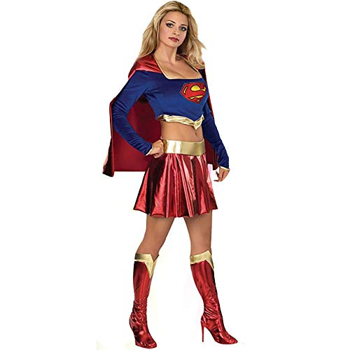 ostüm Sexy Cape Clown Superwoman Kostüm Uniform (Color : Multi-colored, Size : Einheitsgröße) ()