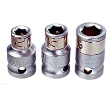 """KS Tools - Llave de vaso adaptador para puntas de destornillador (1/4"""", con anillo espaciador)"""