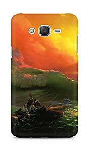 Amez designer printed 3d premium high quality back case cover for Samsung Galaxy J7 (Classic the ninth wave art)