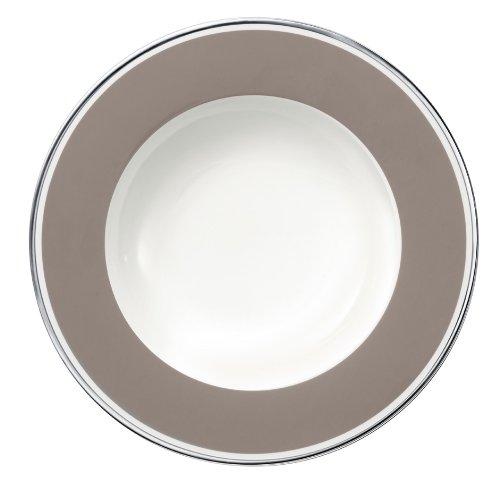 24cm Suppenteller 'Anmut My Colour' aus Premium Bone Porzellan Farbe: Rock Grey