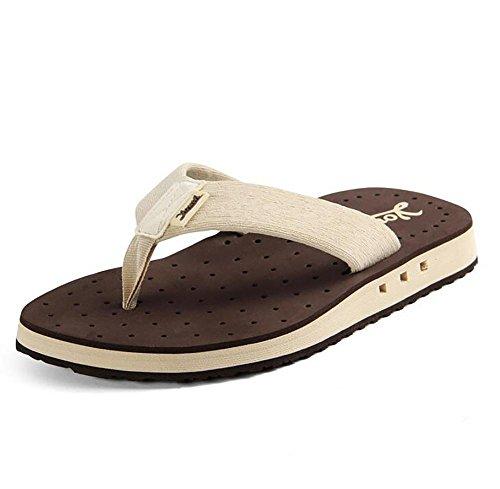 SHANGXIAN Sommer Neuer Hausschuhe EVA Sandalen Freizeit Atmungs Sandalen Und Pantoffeln , Brown , 44 1