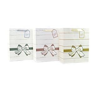 Gifts 4 All Occasions Limited SHATCHI-519 - Lote de 3 bolsas de papel para regalos de cumpleaños, bodas, Navidad, regalos