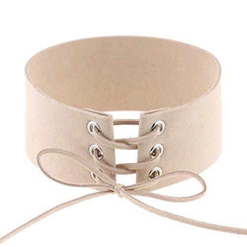 Vazan Schnapp Bracelet & Bangles 14 Farbe DIY justierbare PU-Armband-Armband-Stulpe fit 18mm DIY Rivca Snaps Knopf Schmuck [30cm Elfenbein] (Type Fit Snap)