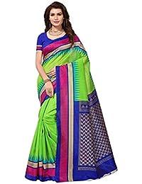 Calendar Women's Latest Design Bhagalpuri Silk Saree With Blouse Piece(CS1988_Multi-Color_Free_Size)