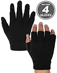 3-in-1 Touchscreen Magic Gloves - Versatile & Lightweight Thermal Knit Winter Gloves Designed for Texting,