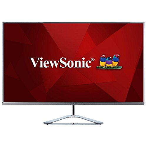 Viewsonic VX3276-MHD-2 80 cm (32 Zoll) Design Monitor (Full-HD, IPS-Panel, 3 ms, HDMI, DP, Pip, Eye-Care, Eco-Mode, Multidisplay) Silber-Schwarz
