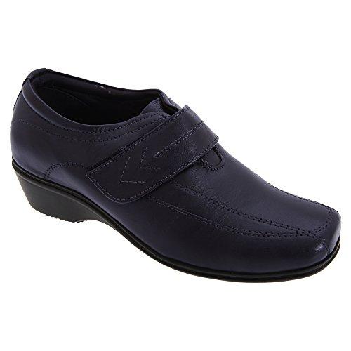Mod Comfys - Chaussures en cuir à sangle scratch - Femme Noir