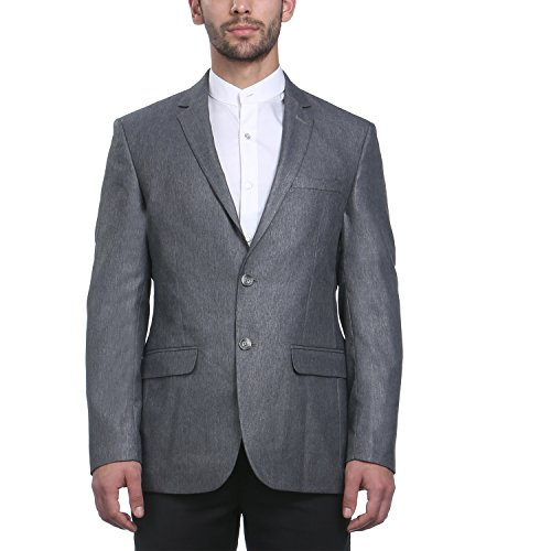 Park Avenue Men Grey Terry Rayon Jackets