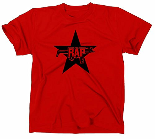 Rap T Shirt, Hip Hop, Raf, Rote Armee Fraktion, Red Army Faction, Satire, L, red