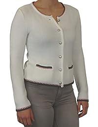 afafa8766b0860 klassische Damen Trachten Strickjacke MIRI von Sabrina Prexl mit  Kontrastbündchen